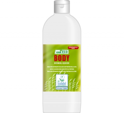 Verde eco body bagnoschiuma ecologico ecolabel