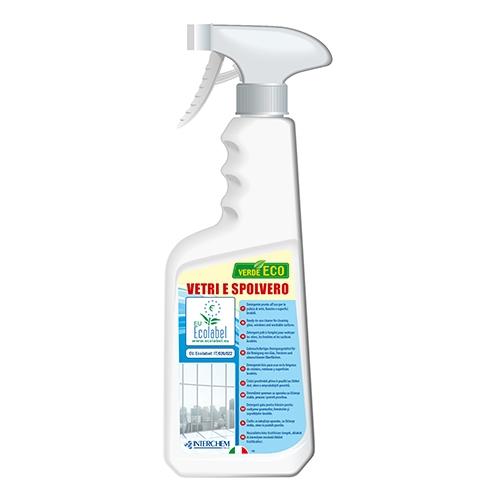 Verde eco vetri e spolvero detergente ecologico